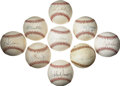 Autographs:Baseballs, Assorted Baseball Stars Single Signed Baseballs Lot of 9. Group ofnine single signed baseballs from assorted stars from t...