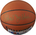 Basketball Collectibles:Balls, Kareem Abdul-Jabbar Single Signed Basketball. Regarded as one of the classiest and dominant players to ever set foot on the...