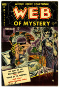 Golden Age (1938-1955):Horror, Web of Mystery #1 (Ace, 1951) Condition: VF-....