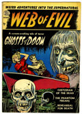 Golden Age (1938-1955):Horror, Web of Evil #1 (Quality, 1952) Condition: FN+....