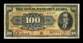 Canadian Currency: , Montreal, PQ- The Royal Bank of Canada $100 Jan. 2, 1913 Ch. # 630-12-22. ...