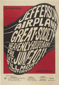 Music Memorabilia:Posters, Jefferson Airplane/Great Society Fillmore Auditorium ConcertPoster, BG-10 (Bill Graham, 1966). This poster is significant d...(Total: 1 Item)
