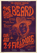 Music Memorabilia:Posters, The Beard Theatrical Play Fillmore Poster (American Theater,1966) Michael McClure's play, opening at the Fillmore ... (Total: 1Item)