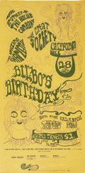 """Music Memorabilia:Posters, Big Brother and the Holding Company """"Bilbo's Birthday"""" CaliforniaHall Concert Poster (San Francisco Calliope Co., 1966). A...(Total: 1 Item)"""