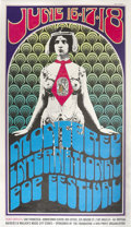 Music Memorabilia:Posters, Monterey Pop Festival Concert Poster (1967). This silver-tonedposter is notoriously tough to find in decent condition, as t...(Total: 1 Item)