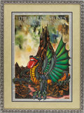 Music Memorabilia:Posters, Rolling Stones Cardiff and Pembroke Castles Concert Poster (1973).This poster, featuring a wild-looking dragon with the Sto...(Total: 1 Item)