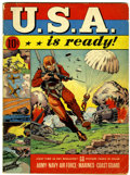 Golden Age (1938-1955):War, U.S.A. Is Ready #1 (Dell, 1941) Condition: GD/VG....
