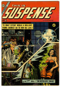 Golden Age (1938-1955):Horror, This Is Suspense #23 (Charlton, 1955) Condition: VG/FN....