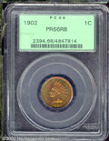 Proof Indian Cents: , 1902 1C, RB
