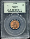Lincoln Cents: , 1923 1C, RD