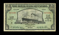 Canadian Currency: , St. Johns, Antigua- The Royal Bank of Canada $5 Jan. 3, 1938 Ch. # 630-26-02. ...
