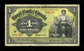 Canadian Currency: , Kingston, Jamaica- The Royal Bank of Canada 1 Pound Jan. 3, 1938Ch. # 630-54-02. ...