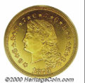Four Dollar Gold Pieces: , 1879 $4 FLOW HAIR