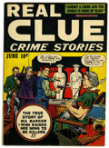 Golden Age (1938-1955):Crime, Real Clue Crime Stories V2#4 (Hillman Fall, 1947) Condition: FN/VF....