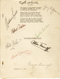 Movie/TV Memorabilia:Autographs and Signed Items, North West Mounted Police Cast Signed Script. A vintage copyof the 187-page screenplay for the Technicolor adventur... (Total:1 Item)
