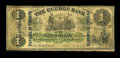 Canadian Currency: , Quebec, PQ- The Quebec Bank $1 Jan. 2, 1863 Ch. # 620-34-02a. ...