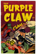 Golden Age (1938-1955):Horror, Purple Claw #1 (Minoan Publishing, 1953) Condition: VG....