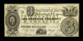 Canadian Currency: , Phillipsburgh, LC- The Phenix Bank $3 May 4, 1837 Ch. #590-10-02-06. ...