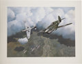 Autographs:Military Figures, Pappy Boyington Signed Limited Edition Lithograph....