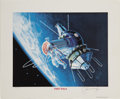 Explorers:Space Exploration, Alexei Leonov Signed Limited Edition Print....