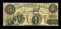 Canadian Currency: , Stanstead, PC- The Provincial Bank $5 April 1, 1856 Ch. #610-10-06. ...