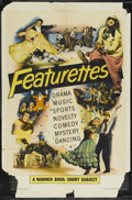 """Movie Posters:Short Subject, Warner Brothers Featurettes Stock (Warner Brothers, 1951). OneSheet (27"""" X 41""""). Short Subject...."""