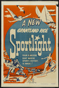 "Movie Posters:Sports, Grantland Rice Sportlight Stock (Paramount, 1950). One Sheet (27"" X 41""). Sports...."