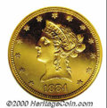 Proof Liberty Eagles: , 1884 $10