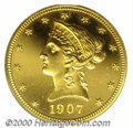 Proof Liberty Eagles: , 1907 $10 LIBERTY