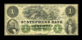 Canadian Currency: , St. Stephen, NB- The St. Stephens Bank $1 Mar. 1, 1880 Ch. #675-20-04-04. ...