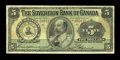 Canadian Currency: , Toronto, ON- The Sovereign Bank of Canada $5 May 1, 1905 Ch. #685-10-04. ...