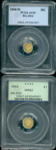 California Fractional Gold: , 1853 $1 BG-530