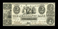 Canadian Currency: , Toronto, UC- The Merchants Bank $2 June 1, 1837 Ch. # 450-10-06....