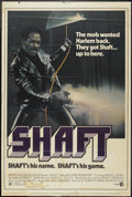 "Movie Posters:Blaxploitation, Shaft (MGM, 1971). Poster (40"" X 60""). Blaxploitation...."