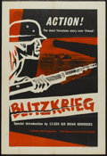 "Movie Posters:Documentary, Blitzkrieg (Lion International, 1962). British One Sheet (27"" X 40""). World War II Documentary...."