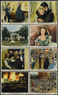 "Movie Posters:Academy Award Winner, Gone with the Wind (MGM, R-1968). British Front of House Still Setof 8 (8"" X 10""). Academy Award Winner.... (Total: 8 Items)"