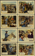 """Movie Posters:Western, The Lone Ranger (Warner Brothers, 1956). British Front of House Still Set of 8 (8"""" X 10""""). Western.... (Total: 8 Items)"""