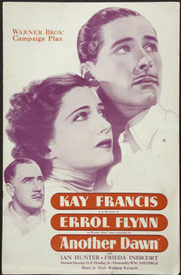 Another Dawn (Warner Brothers, 1937). Pressbook (Multiple Pages). Drama