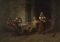 Fine Art - Painting, European:Antique  (Pre 1900), CAMILLO INNOCENTI (Italian, 1871-1961). Tavern Amusements .Oil on panel. 9 x 12 inches (22.9 x 30.5 cm). Signed lower r...
