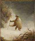 Fine Art - Painting, European:Antique  (Pre 1900), After GEORGE MORLAND (British, 1763-1804). Snowbound. Oil on canvas. 14 x 12 inches (35.6 x 30.5 cm). Inscribed in penci...