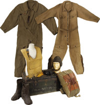 Collection of Early Aviation Flight Suits and Equipment