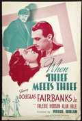 Movie Posters:Drama, When Thief Meets Thief (United Artists, 1937). Pressbook (Multiple Pages). Drama....