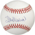 Autographs:Baseballs, Stan Musial Single Signed Baseball. Stan the Man has put a 10/10exemplar of his signature on the clean ONL (Giamatti) orb ...