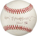 "Autographs:Baseballs, Hal Newhouser ""HOF 92"" Single Signed Baseball. Prince Hal's sweetspot signature appears here on the provided OAL (Budig) b..."
