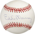Autographs:Baseballs, Eddie Murray Single Signed Baseball. Long-time Orioles sluggerEddie Murray has left his Hall of Fame signature on the offe...