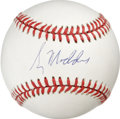 Autographs:Baseballs, Greg Maddux Single Signed Baseball. The perennial All-Star pitcheris believed to be one of the finest control pitchers to ...