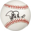Autographs:Baseballs, Rafael Palmeiro Single Signed Baseball. The 500 Home Run Clubmember Rafael Palmeiro has left a fine black sharpie example ...