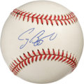 Autographs:Baseballs, Craig Biggio Single Signed Baseball. A uniform cream tone affectsthe impressive offering we make available here -- a perfec...