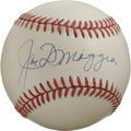 Autographs:Baseballs, Joe DiMaggio Single Signed Baseball. Exceptional example of theYankee Clipper's single. DiMaggio items have ascended clo...