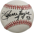Autographs:Baseballs, Lawrence Taylor Single Signed Baseball. Often thought of asreckless, the firestorm that was Lawrence Taylor created nothin...